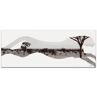 Adam Schwoeppe 'Cheetah Savanna' Contemporary Metal Animal Silhouette Art