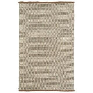 Handmade Multi Wool & Jute Diamonds Frisco Rug (8'0 x 10'0)