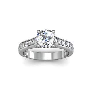 14k White Gold 1 1/2ct TDW Solitaire Ring (H-I, I1-I2)