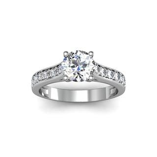 1.50 Carat Solitaire Ring 14K White Gold (H-I, I1-I2)