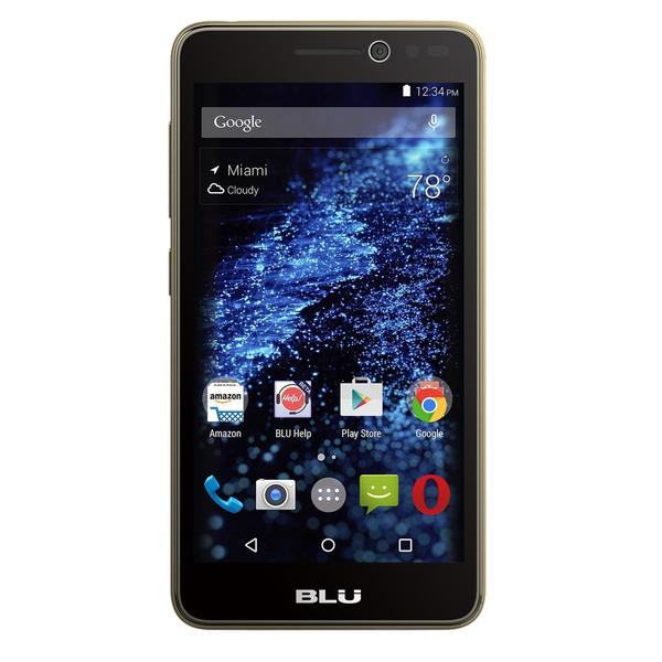 BLU Studio Selfie S070Q 8GB 4G LTE Unlocked Dual-SIM Android Quad-Core Cell Phone - Gold