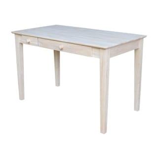 Wooden Computer Desk with Flip Down Drawer