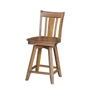 San Remo Counter Height Pecan Stool with Swivel and Auto Return