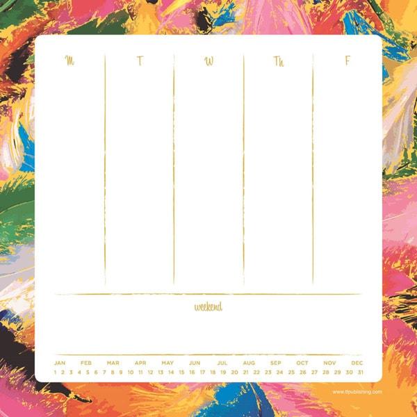 Splatter Weekly Desk Pad