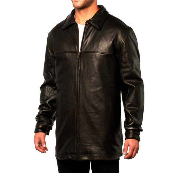Men's Brown Glove Leather Coat