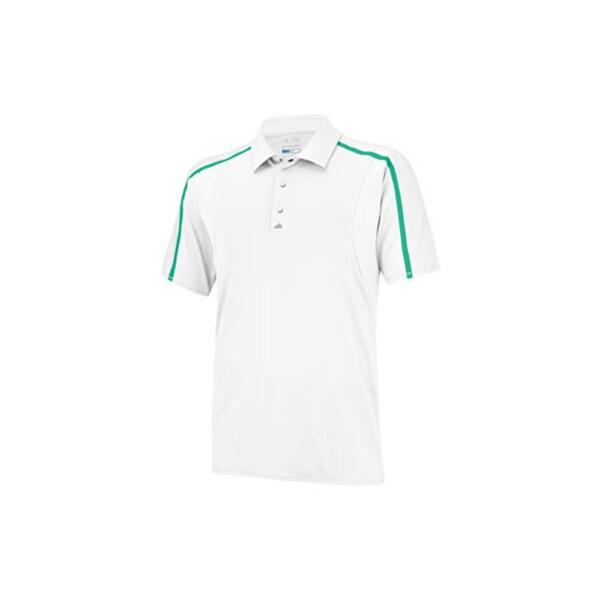 Adidas Men's Puremotion Tour Climacool Raglan White/ Green Polo
