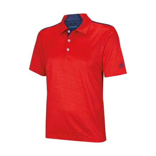 Adidas Men's Climacool Collar Channel Print Red/ Marine Polo