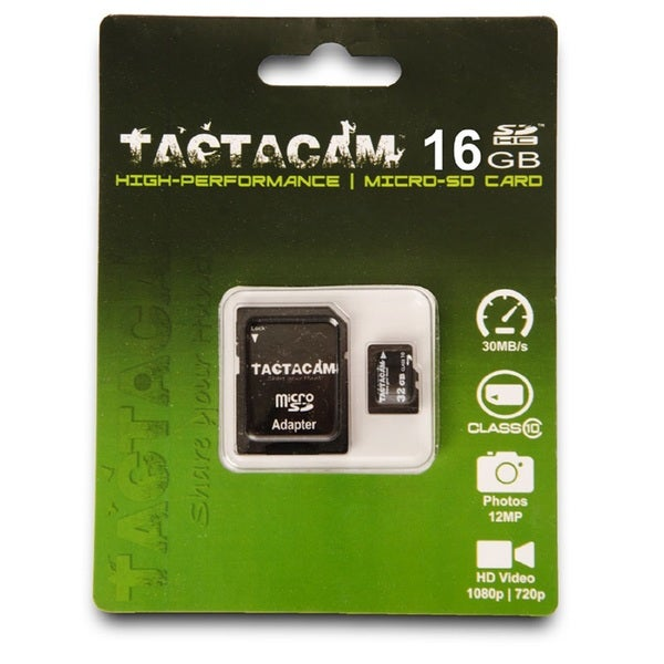 Tactacam Class 10 Micro SD Card with Adapter