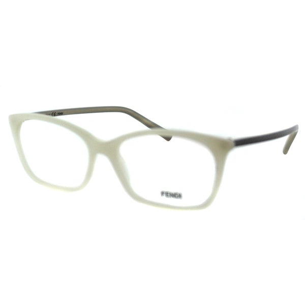 Fendi Unisex FE 1020 105 White Plastic Rectangle Eyeglasses