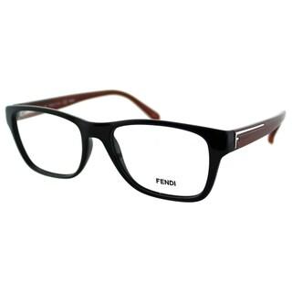 Fendi Women's FE 1036 002 Black Plastic Rectangle Eyeglasses