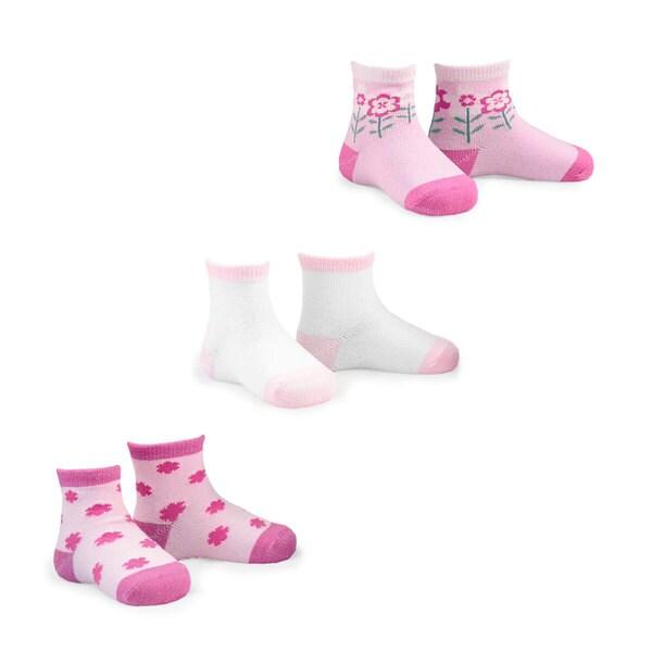 Naartjie Kid's Cotton Socks Multi-colored 3-pair Pack Crew Socks