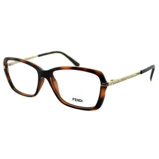 Fendi Women's FE 1042R 238 Dark Brown Havana Plastic Rectangle Eyeglasses