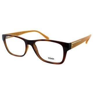 Fendi Women's FE 1036 218 Blonde Havana Plastic Rectangle Eyeglasses