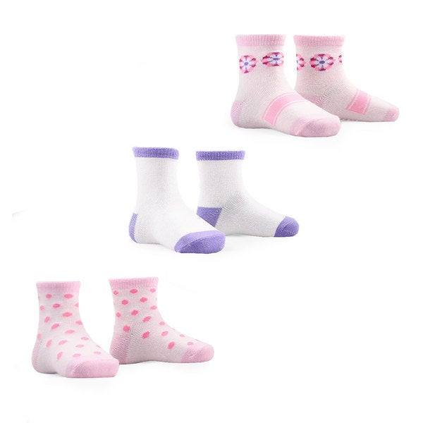 Naartjie Kid's Cotton Socks 2015 New Style Multi-colored 3-pair Pack Crew Socks