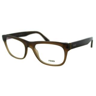 Fendi Women's FE 1028 210 Matt Brown Plastic Rectangle Eyeglasses