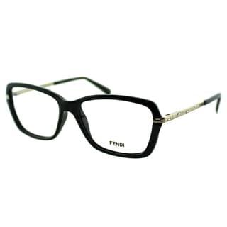Fendi Women's FE 1042R 001 Black Plastic And Metal Rectangle Eyeglasses