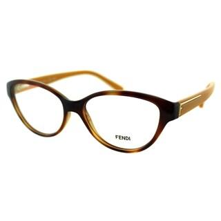 Fendi Women's FE 1035 218 Blonde Havana Oval Plastic Eyeglasses