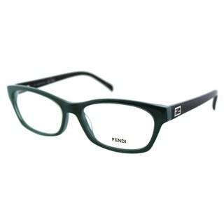 Fendi Women's FE 1032 315 Sage/ Pastel Plastic Rectangle Eyeglasses