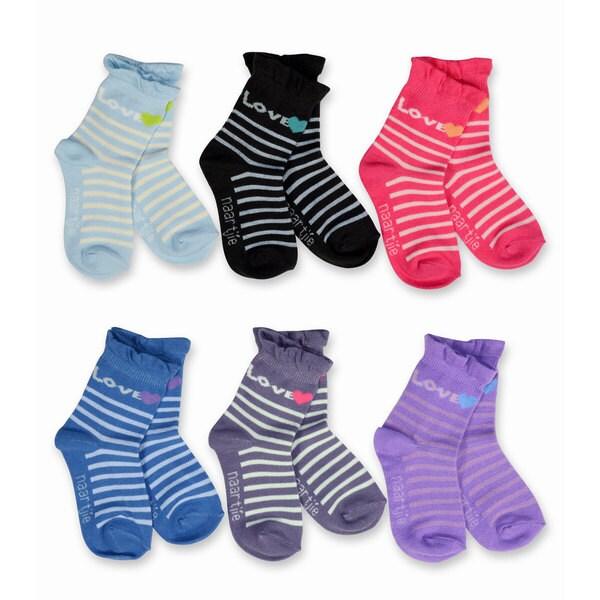 Naartjie Girl's Kid Roll Top Multi-colored 6-pack Socks