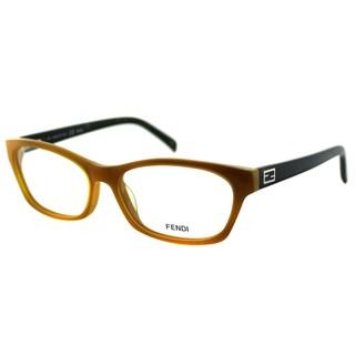 Fendi Women's FE 1032 249 Honey/ Saffron Plastic Rectangle Eyeglasses