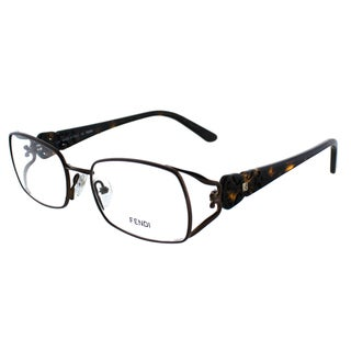 Fendi Women's FE 872 212 Brown Metal Rectangle Eyeglasses