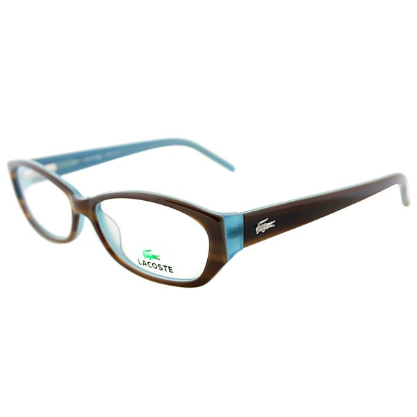 Lacoste Women's LA 2625 214 Light Havana with Blue Plastic Cateye Eyeglasses