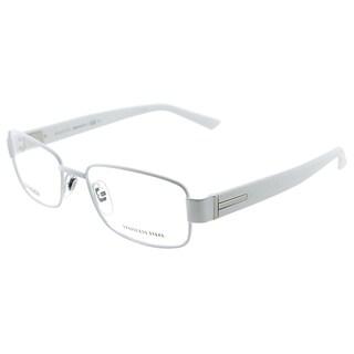 Gucci Men's GG 1937 U8P White Metal Rectangle Eyeglasses