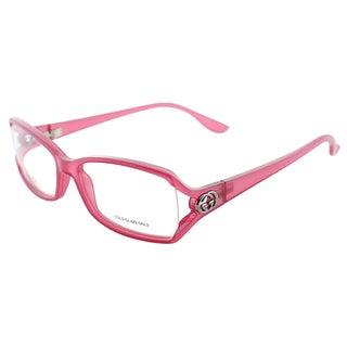 Gucci Women's GG 3048 VOK Dark Pink Plastic Rectangle Eyeglasses