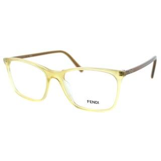 Fendi Women's FE 946 799 Sand Transparent Plastic Rectangle Eyeglasses