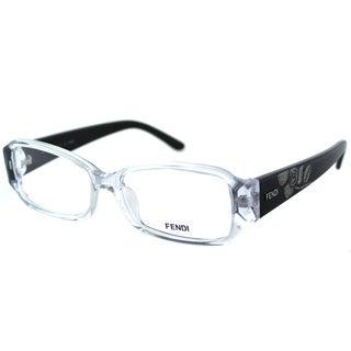 Fendi Women's FE 924 000 Crystal Plastic Rectangle Eyeglasses