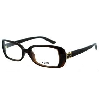 Fendi Women's FE 898 209 Brown Plastic Rectangle Eyeglasses