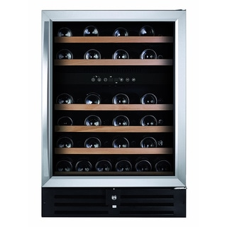 Royal Cave Elite BU-145D 46 Bottle Dual Zone Compressor Built-in Stainless Wine Cooler