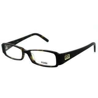 Fendi Women's FE 891 215 Dark Havana Rectangle Plastic Eyeglasses