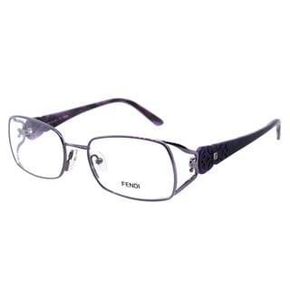 Fendi Women's FE 872 532 Purple Rectangle Metal Eyeglasses