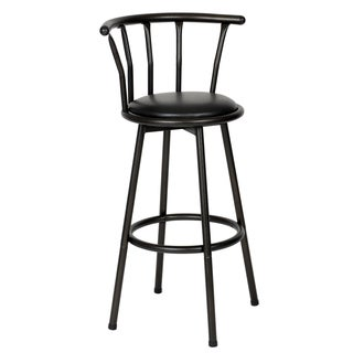 Spendy Swivel Metal Powder Coated Black Barstool