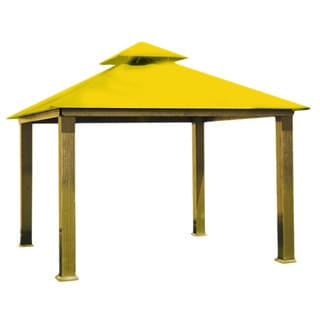 Riverstone Industries Acacia Sunbrella Fabric Gazebo (14' x 14')