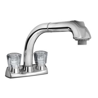 Cleanflo White Pull Out Utility Faucet