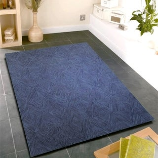 Integrity 'Wounded Warrior Donator' Navy Hand-crafted LR12021 Rug (8'9 x 11'9)