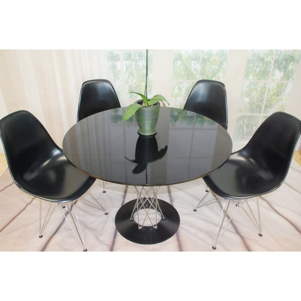Contemporary Twist Dining Set 39in.