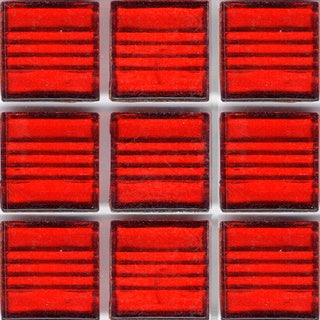 Clear Red Glass Brio 3/4-inch Mosaic Tile