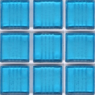 Clear Sky Blue Glass 3/4 inch Tile