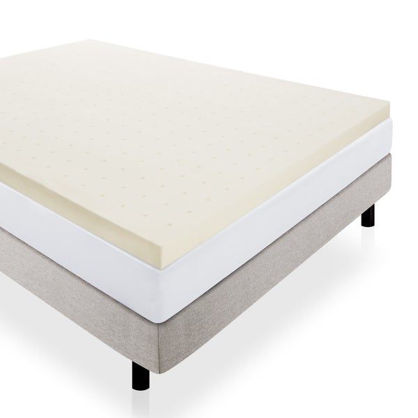 LUCID 3-inch Ventilated Memory Foam Mattress Topper