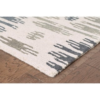Integrity 'Wounded Warrior Donator' Ivory Hand-crafted LR12023 Rug (8'9 x 11'9)