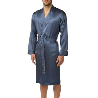 Majestic Men's Cypress Silk 48-inch Shawl Robe