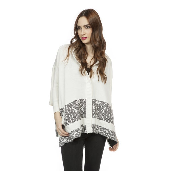 Cynthia Vincent Women's Hooded Blanket Sweater