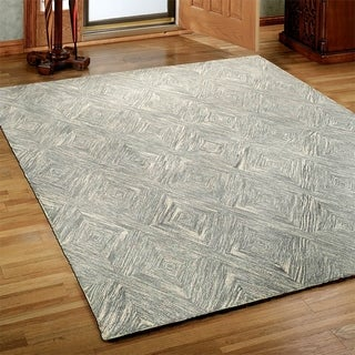 Integrity 'Wounded Warrior Donator' Gray Hand-crafted LR12020 Rug (7'9 x 9'9)
