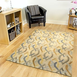 Integrity 'Wounded Warrior Donator' Honey Gold Hand-crafted LR12011 Rug (7'9 x 9'9)