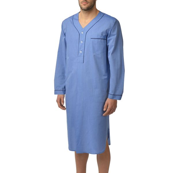 Majestic Men's Basics 100-percent Cotton Nightshirt 16776936