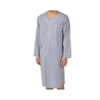 Majestic Men's Cobalt Woven Long Sleeve Nightshirt