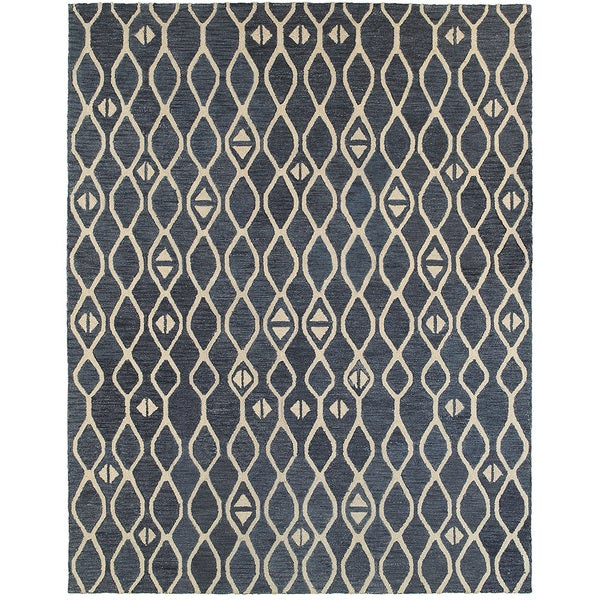 Integrity 'Wounded Warrior Donator' Blue Hand-crafted LR12012 Rug (8'9 x 11'9)